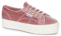 Superga 2790 Velvet Dusty Rose | Our Classic Superga 2750 gets remastered! The 2790 flatform is a cross between our classic tennis shoe shape, and a platform shoe, featuring a chunky vulcanised rubber sole for extra height. Keep the comfort and take your outfit to new heights in our much-loved flatforms.