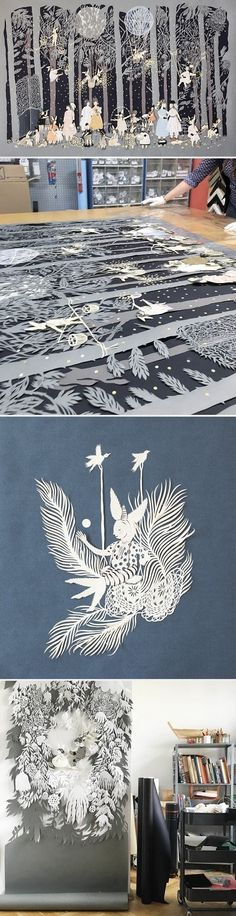 Papercut Illustrations by Lucila Biscione / On the Blog!