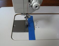 Tape Seam Guide on Sewing Machine