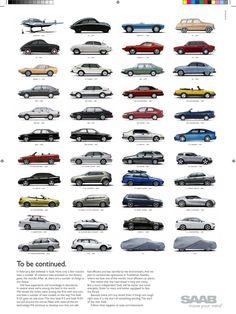 Ads for Saab Cars