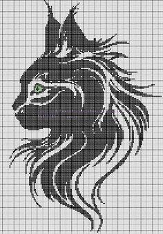 haft krzyżykowy / kot