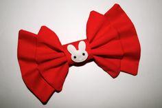 """""""Sailor Bunny"""" bow from Sincerely, Maeko!    http://sincerelymaeko.storenvy.com"""