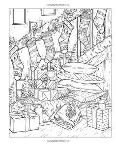 Country Christmas Coloring Book: An Adult Coloring Book Featuring Festive and Beautiful Christmas Scenes in the Country Coloring Book Art, Cute Coloring Pages, Cartoon Coloring Pages, Coloring Pages To Print, Beautiful Christmas Scenes, Christmas Coloring Sheets, Free Adult Coloring, Country Christmas, Christmas Colors