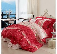 98 Best Girls Lace Ruffle Bedding Images Ruffle Bedding