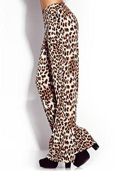 Untamed Leopard Wide-Leg Pants | FOREVER 21 - 2000075015