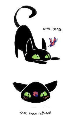 "Ladybug and Chat Noir. ""Notice me sempai~!"" (Miraculous Ladybug, lol)"