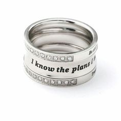 Jeremiah 29:11 wedding bands
