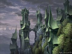 Steffen Sommer Castle of Rivendell Wallpaper