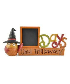 Take a look at the Halloween Countdown Chalkboard Block on #zulily today!