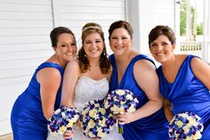 Royal blue wedding color with blue orchids