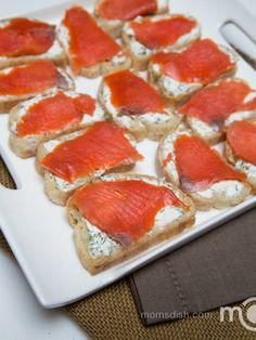 Salmon Tea Sandwiches Recipe <-- substitute cream cheese with plain Greek yogurt to make lower in fat