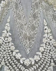French day dress, detail, 1904-1908.