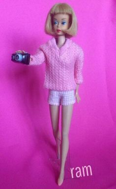 """""""Vacation Time"""" modeled by American Girl Barbie from the collection of Rosalie A. McFarlane."""