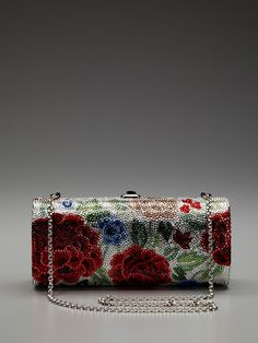 Cylinder Las Rosas Minaudiere by Judith Leiber on Gilt