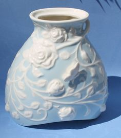 Ceramic Floral and Butterfly Vase