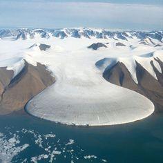 Elephant Foot Glacier in Greenland