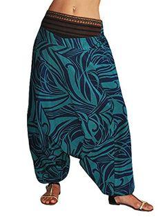 bonzaai pantaloni harem donna pantaloni cavallo basso pantaloni harem uomo vestiti alternativi Naturverbunden