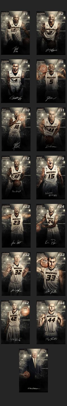 24x36 images mounted and installed in the University of Missouri Men's Basketball Offices.
