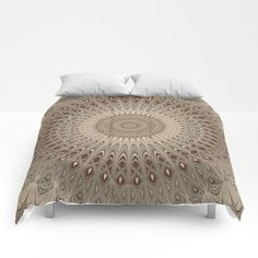 Beige Mandala Comforter  #roomdecor #Society6