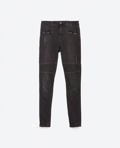 Image 8 of BIKER TROUSERS MID-RISE from Zara