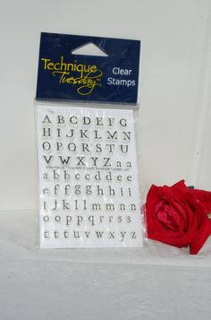 Technique Tuesday Williamsburg Small Alphabet Rubber Stamp Set, Retired, 3x4 Clear Alphabet stamps, Cling Alphabet Set, Upper/Lower Case by MyCreativePossession on Etsy