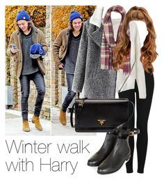 """""""Winter walk with Harry"""" by style-with-one-direction ❤ liked on Polyvore featuring Topshop, Chicnova Fashion, Prada, OneDirection, harrystyles, 1d and harry styles one direction 1d"""