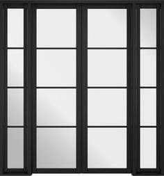 Room Divider Black Soho W6 Internal Folding Doors, Internal French Doors, Glass Room Divider, Room Divider Doors, Soho Rooms, Primed Doors, Black Toilet, Black Rooms, External Doors