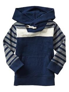colorblock stripe hoodie (love the button)