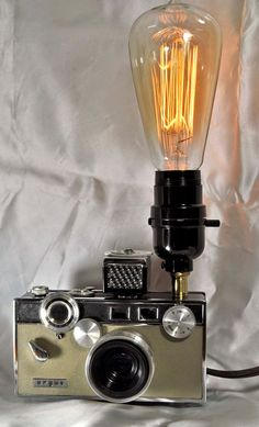 Argus camera lamp with Marconi 30 watt bulb.photography by wedoart, $75.00