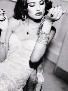 """""""Perfection Everyday""""Bianca Balti photographed by Ellen von Unwerth for Vogue Italia April 2005 #makeup #fashion #style #photography #blog #blogger #tumblr #models #vogue http://www.midnight-charm.com/"""