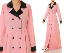 Rose PinkNotched Collar Double Breasted by Tailored2Modesty