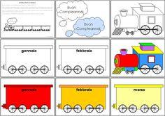 Birthday Train (in Italian) Student Birthdays, Classroom Birthday, Love Quotes, Happy Birthday, Train, Geography, Montessori, Fun, Display