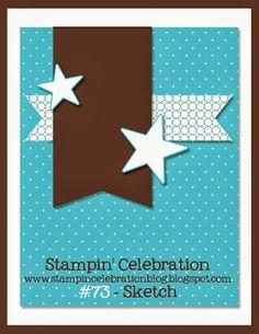 Dec 24 Stampin' Celebration Inspiration Challenge: SCIC #73 Sketch Challenge