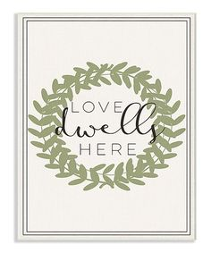 Stupell Industries Love Dwells Here Boxwood Wreath Wall Art | zulily