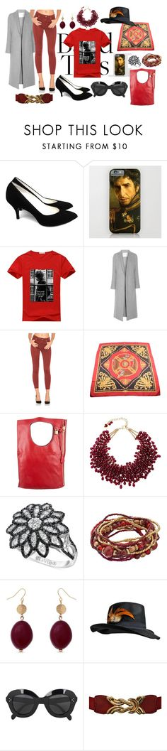 """Untitled #2332"" by moestesoh ❤ liked on Polyvore featuring ADAM, 7 For All Mankind, Salvatore Ferragamo, Tom Ford, Rosantica, LE VIAN, Erica Lyons and CÉLINE"
