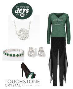 JETS... by christen-olnhausen-frenkel on Polyvore featuring polyvore, fashion, style, Touchstone Crystal and clothing
