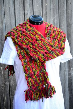 One of our own Scarves from our own pattern. We have many colors to choose from if you would like one made that we do not have shown.