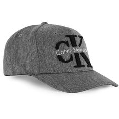 TOPMAN Calvin Klein Grey Marl Towelling Logo Cap ($44) ❤ liked on Polyvore featuring men's fashion, men's accessories, men's hats, grey and mens caps and hats