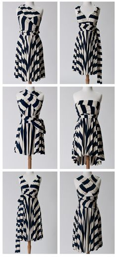 More ways to style a convertible wrap dress (how bad do I wish I'd bought a striped one right now?!)