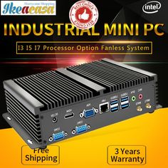 Fanless Mini PC Industrial Computer i7 i5 i3 //Price: $221.60 & FREE Shipping // #onlineshop #bag #happy