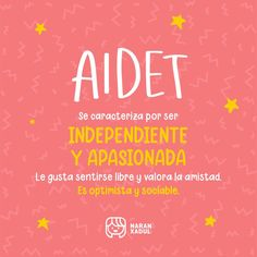 Significa: Independiente y apasionada. Le gusta sentirse libre y valora la amistad. Weather, Movie Posters, Girl Names, Wooden Shapes, Letter Symbols, Meanings Of Names, Film Poster, Weather Crafts, Billboard