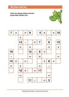 rechen aufgaben leicht 1 klasse malie mathe mathe r tsel und bungsaufgaben mathe. Black Bedroom Furniture Sets. Home Design Ideas