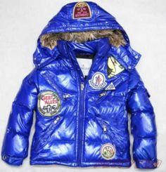 de nouveaux styles venant Moncler Vestes Enfants In Grossy Bleu