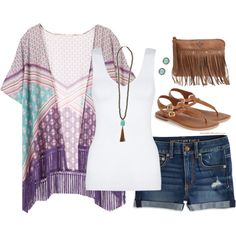 Love this outfit, not the accessories or Jean shorts
