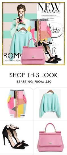 """""""Sweatshirt"""" by ayannap ❤ liked on Polyvore featuring Moschino, STELLA McCARTNEY and Dolce&Gabbana"""