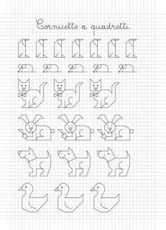 Risultati immagini per dibujos en cuadricula Blackwork Patterns, Blackwork Embroidery, Embroidery Stitches, Embroidery Patterns, Graph Paper Drawings, Graph Paper Art, Easy Drawings, Cross Stitch Borders, Cross Stitch Patterns