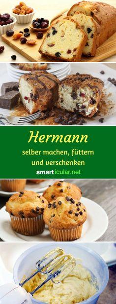 Erinnerst du dich noch an Hermann? Mit wenigen Zutaten kannst du den süßen Sauerteig selber machen und pflegen, damit backen und ihn an Freunde verschenken!