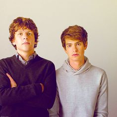 jesse eisenberg and andrew garfield!