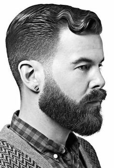 Another option. Tight hair with faded beard.