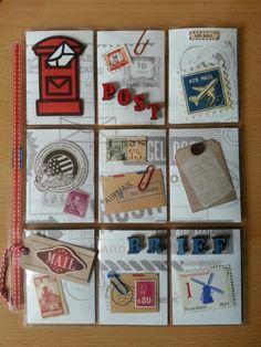 Pocket Letter #9 Snail mail & stamps - made by Juniper